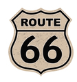 Route 66 sign vector
