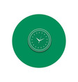 Line icon of round office clock vector