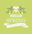 With template text hello spring creative de vector