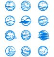 Icons of water vector