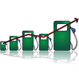 Gas prices vector