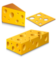 Cheese set vector