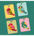Scrapbook design elements - tags with birds vector