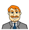 Adult smiling man vector