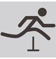 Running hurdles icon vector