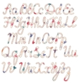Written vintage alphabet vector