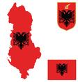 Albania flag vector