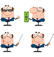 Business man characters collection vector