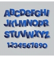 English alphabet letters vector