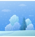 Landscape winter forest vector