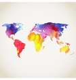 World map painted with watercolors painted world vector