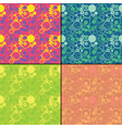 Set of four decorative seamless pattern vector