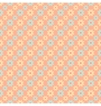 Retro pattern tiling fond red beige and blue vector
