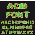 Psychodelic alphabet for design vector
