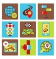 Mobile navigation icons vector
