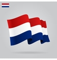 Flat and waving dutch flag vector
