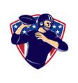 American quarterback football player passing vector