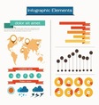 Set elements of infographics vector