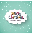 Merry christmas card flat design vector