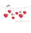 Cute birds celebrating valentines day vector