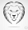 Lions head tribal vector