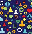 Seamless social pattern - vector