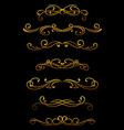 Vintage ornamental borders vector