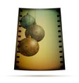 Negative film with xmas balls vector