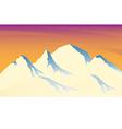 Ice mountain sunshine vector