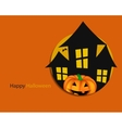 Halloween background with pumpkin vector