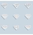 Diamond paper icons vector