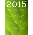 Ecology themed calendar 2015 vector