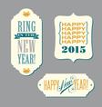 Happy new year vintage typography designs vector