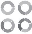 Circle chart set gray vector