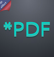 Pdf file extension icon symbol 3d style trendy vector