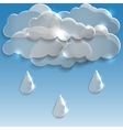 Glass clouds with rain spring background vector