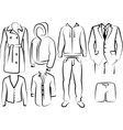 Collection of mens clothes vector