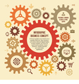 Infographic business concept with gears vector