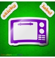 Microwave oven icon sign symbol chic colored vector