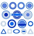 Set of badges labels and stickers in blue vector