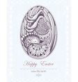 Easter egg with chicken embryo new life birth vector