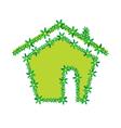 Green flower house vector