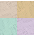 Paper texture four color set vector