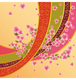 Colorful background with sakura blossom japanese vector