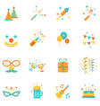 Party objects and icons set vector