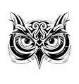 Owl head tattoo vector
