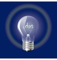 Concept ideas in the form of light bulb on a blue vector