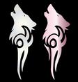Spirit wolf tattoo vector