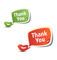 Set of bright colorful stickers thank you vector