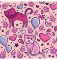 Cats in love vector